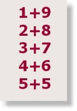 minusaufgabe jede zahl von 1 bis 9 einmal